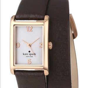 Kate Spade Cooper double-wrap strap watch